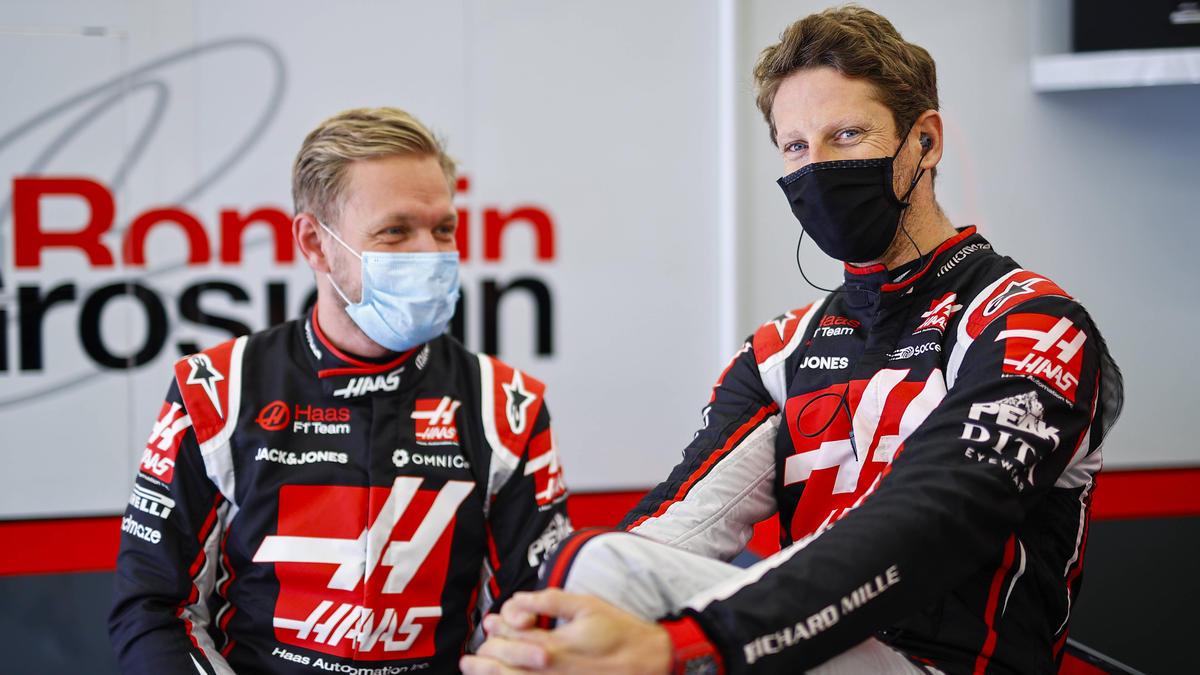 Eiserne Reserve bei Haas: Kevin Magnussen und Romain Grosjean