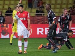Monacos Radamel Falcao vergab gegen Valenciennes knapp vor Schluss einen Elfmeter