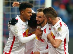 Auch Andreas Ulmer trug sich mit einem sehenswerten Treffer in die Schützenliste ein (5.3.2016)