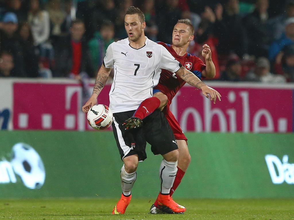 Das österreichsche Nationalteam feiert einen 2:1-Auswärtserfolg gegen Tschechien