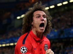 David Luiz llevó su PSG a cuartos de Champions con un potente cabezazo. (Foto: Getty)