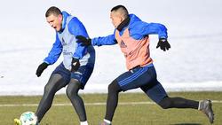 Die HSV-Spieler Bobby Wood (r.) und Kyriakos Papadopoulos wollen den Verein verlassen