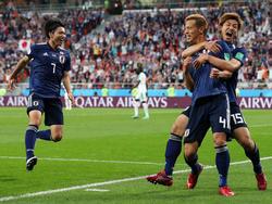 Honda salvó un punto a Japón diez minuto antes del final del partido. (Foto: Getty)