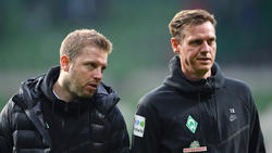 Tim Borowski (r.) ist Assistent von Florian Kohfeldt (r.)