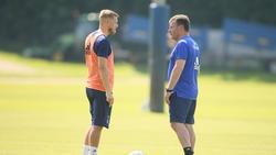 BeimHSV wieder vereint:Aaron Hunt und Neu-Coach Dieter Hecking