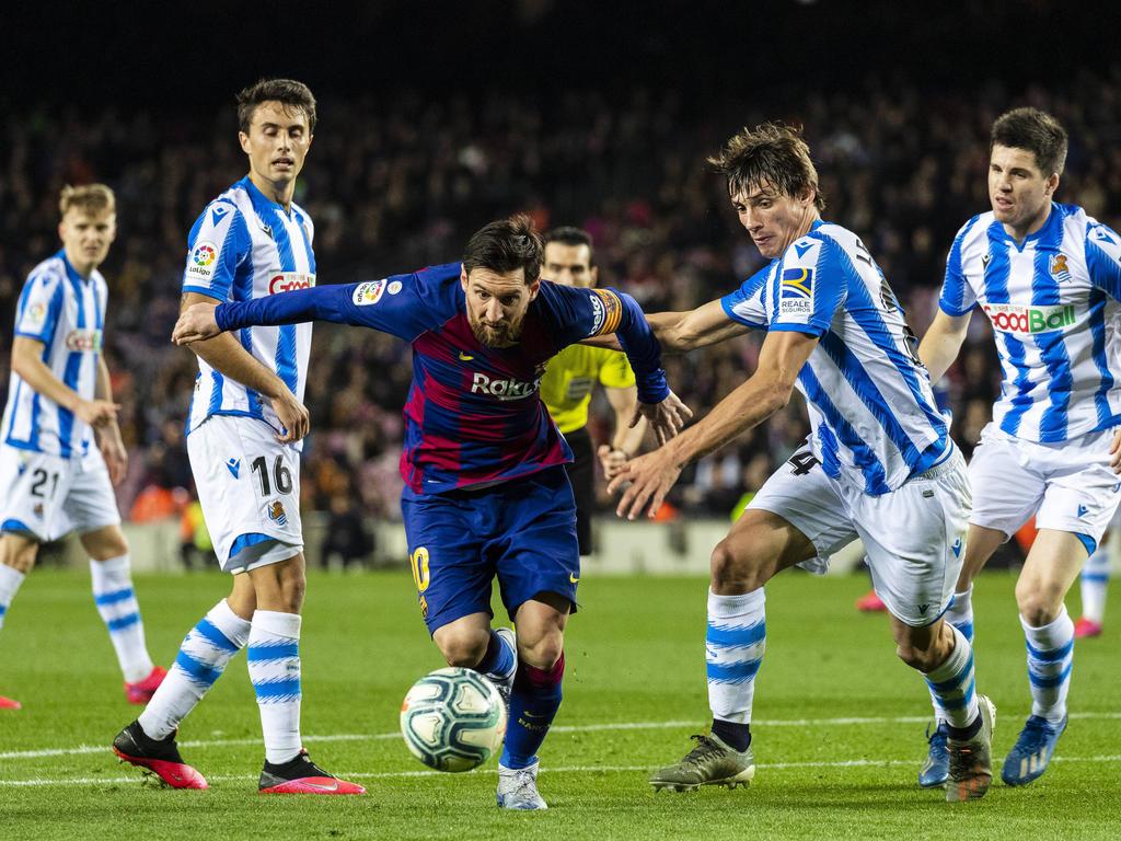 Barça und Real Sociedad würden im Falle eines Ligaabbruchs für die CL genannt werden
