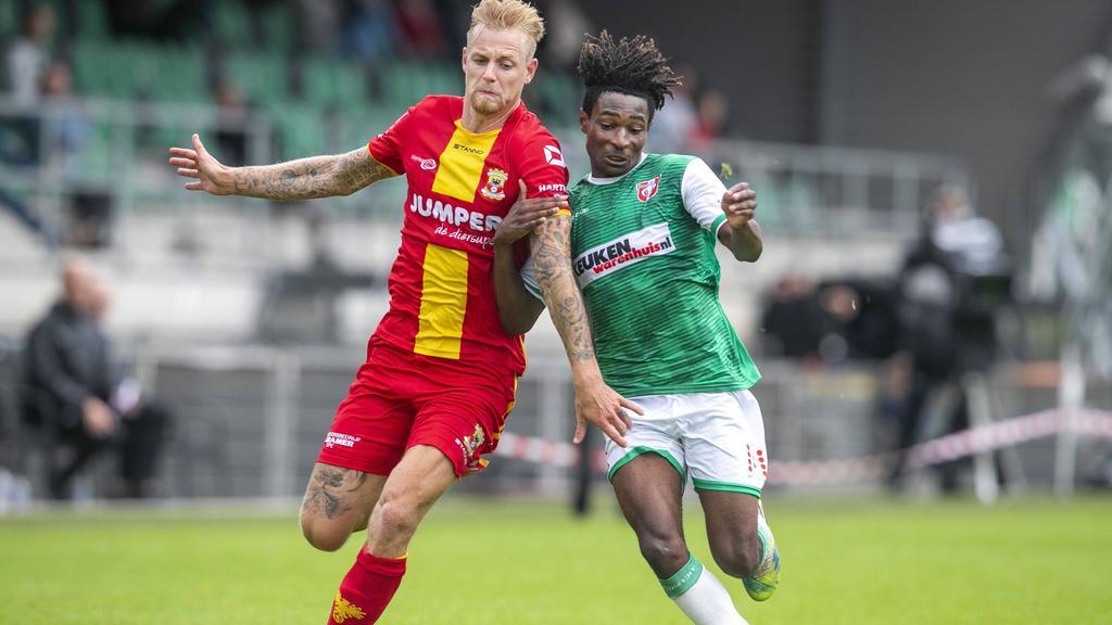 Matthew Bondswell (r.) spielt derzeit auf Leihbasis beim FC Dordrecht, im Sommer soll er zu RB Leipzig zurückkehren