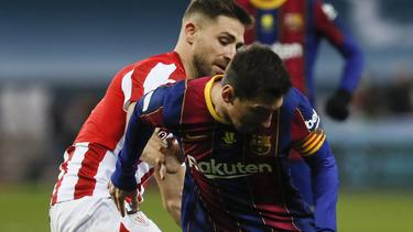Bitterer Abend für Lionel Messi und den FC Barcelona