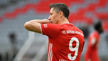 Robert Lewandowski vom FC Bayern jagt einen historischen Rekord