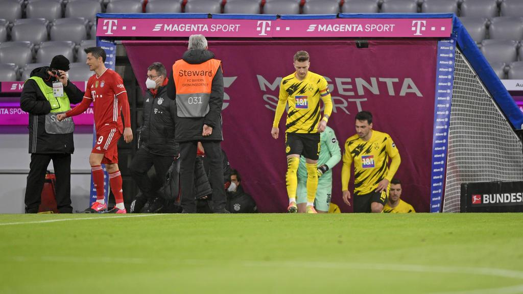 Der BVB um Kapitän Marco Reus fühlte sich im Top-Spiel gegen den FC Bayern ungerecht behandelt