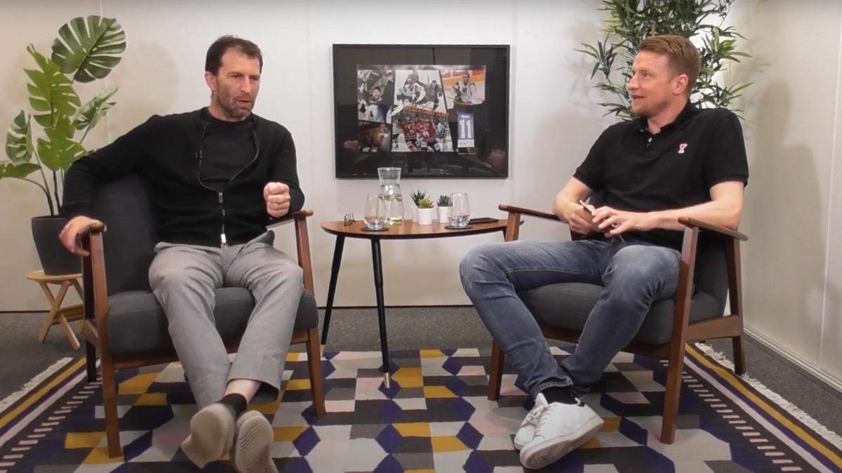 Maik Franz (r.) begrüßt Sven Felski zur dritten Folge seines neuen Podcasts