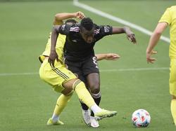 Matuidi en una acción en la medular con el Inter Miami.