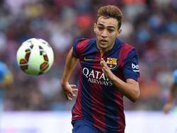 Munir El Haddadi empfahl sich bei Trainer Luis Enrique mit zwei Treffern
