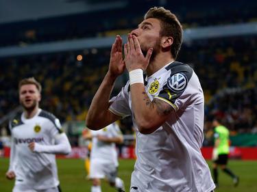 Ciro Immobile, con un doblete, llevó al Dortmund a cuartos de la Copa. (Foto: Getty)