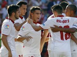 Ben Yedder (3.v.l.) schoss den FC Sevilla zum Sieg über Deportivo Alavés