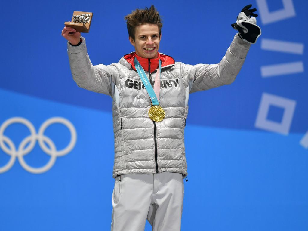 Andreas Wellinger holte in Pyeongchang überraschend Gold im Einzel