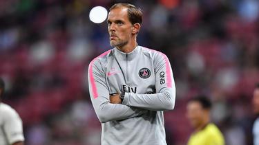 Trainer Thomas Tuchel muss im Mittelfeld von PSG improvisieren