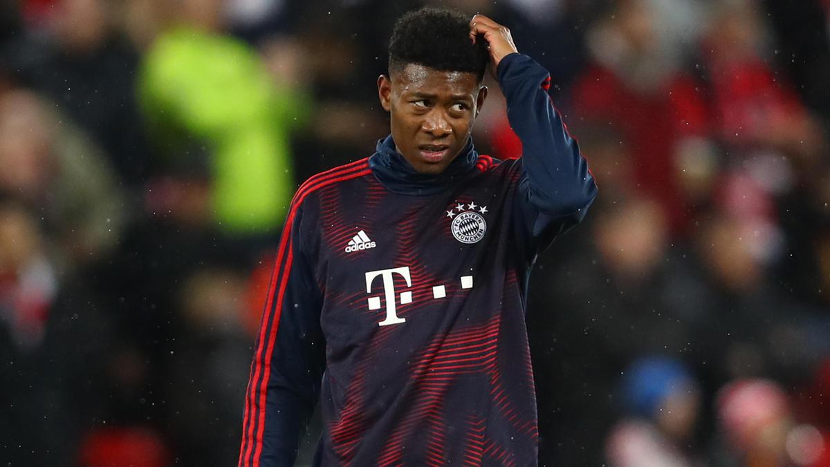 David Alaba konnte noch nicht am Mannschaftstraining des FC Bayern teilnehmen