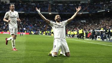 Benzema es el primer jugador en anotar 8 goles seguidos en Liga con el Madrid. (Foto: Getty)