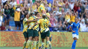 Die australischen Frauen besiegten Brasilien