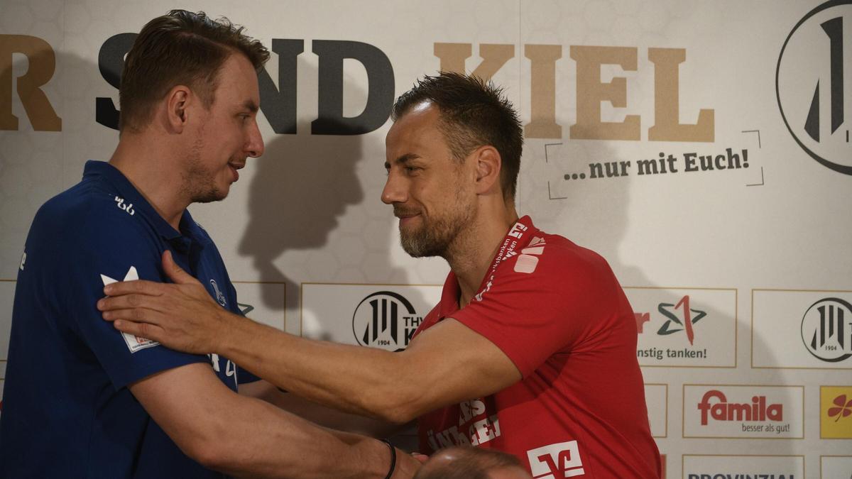 Filip Jicha (l.) und Maik Machulla treten im Supercup mit ihren Teams gegeneinander an