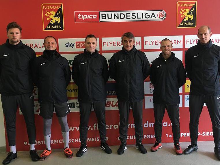 Das neue Trainerteam des FC Admira Wacker