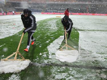 Wegen zu heftigen Schneefalls wurde die Partie zwischen Beşiktaş und Mersin Idmanyurdu abgebrochen