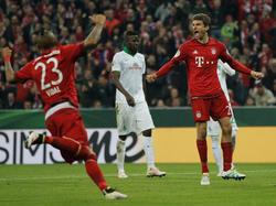 Thomas Müller erzielte gegen Werder Bremen beide Bayern-Tore