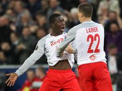Amadou Haïdara und Stefan Lainer zeigten gegen Marseille eine bärenstarke Leistung
