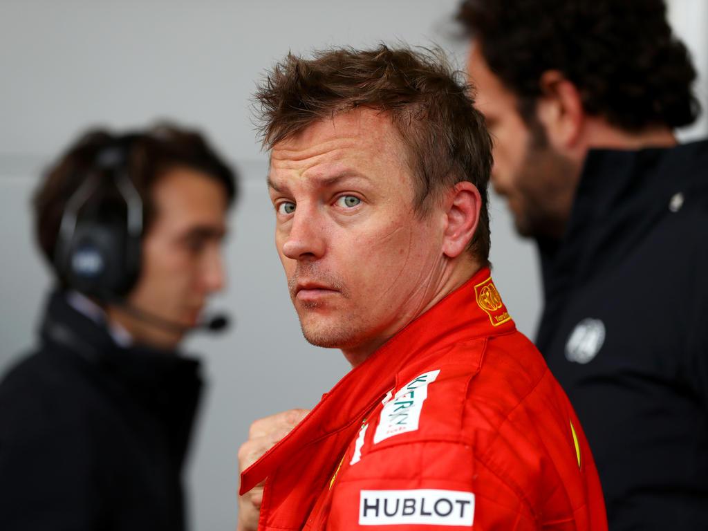 Kimi Räikkönen musste seinen Ferrari am Sonntag in Barcelona vorzeitig parken