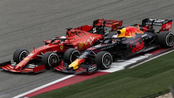 Am Ausgang von Kurve 14 wurde es eng zwischen Vettel & Verstappen
