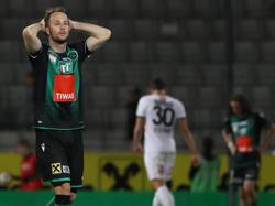 Nach dem 0:1 fiel Innsbruck gegen Altach auseinander