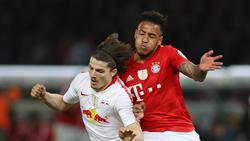 Corentin Tolisso konnte nach seiner langen Verletzungspause im DFB-Pokalfinale wieder spielen