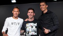 Christiano Ronaldo, Lionel Messi und Neymar verdienen viel mti Werbe-Postings bei Instagram