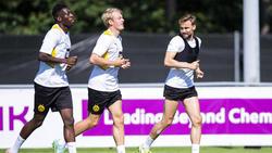 Marcel Schmelzer (r.) trainierte am Donnerstag mit der Mannschaft des BVB