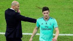 Luka Jovic (re.) hat es bei Real Madrid nicht leicht