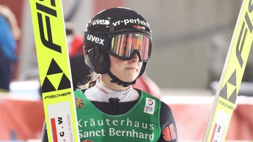 Anna Rupprecht wurde neben Katharina Althaus, Karl Geiger und Markus Eisenbichler von Bundestrainer Stefan Horngacher für den Mixed-Teamwettbewerb nominiert