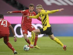 Zog mit dem BVB gegen die Bayern den Kürzeren: Erling Håland (r.)