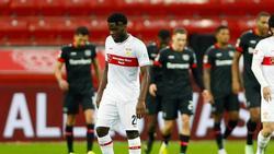 Orel Mangala vom VfB Stuttgart fällt vorerst mit einem Muskelfaserriss aus
