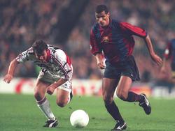 Rivaldo, en un partido con el FC Barcelona de Champions ante el Bayern. (Foto: Getty)