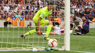Einmal mehr überragend: Lionel Messi (r.)