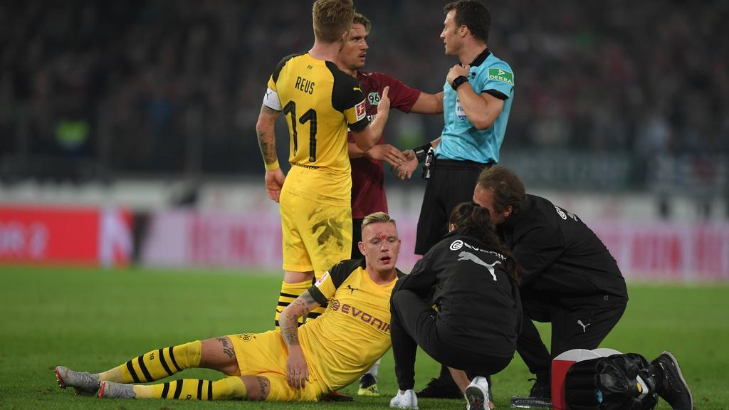 In Hannover konnte Wolf auch ein Zusammenprall nicht stoppen. Er stand 90 Minuten auf dem Feld.