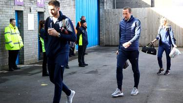 Kane a su llegada al estadio Turf Moor. (Foto: Getty)