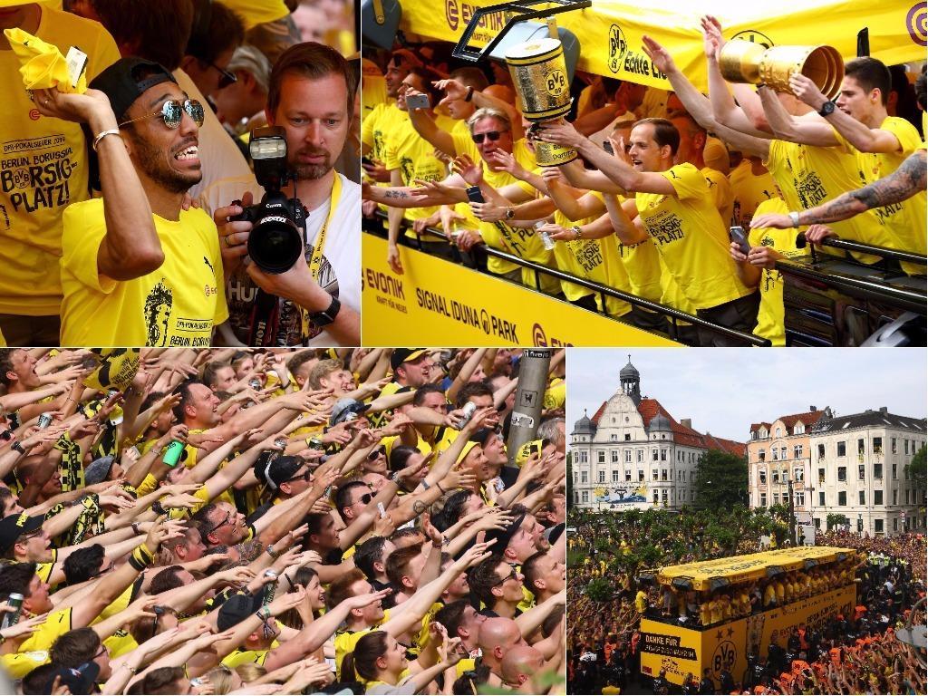 Diashow Party Auf Dem Borsigplatz Dortmund Steht Kopf