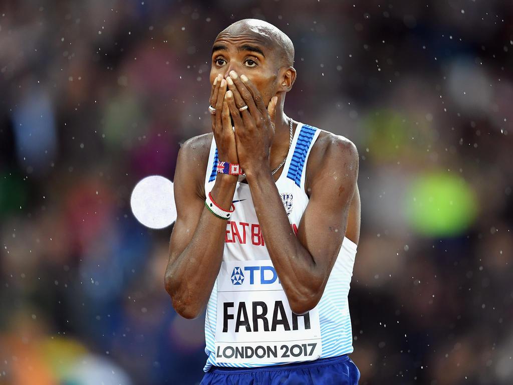 Mohamed Farah musste sich in London geschlagen geben