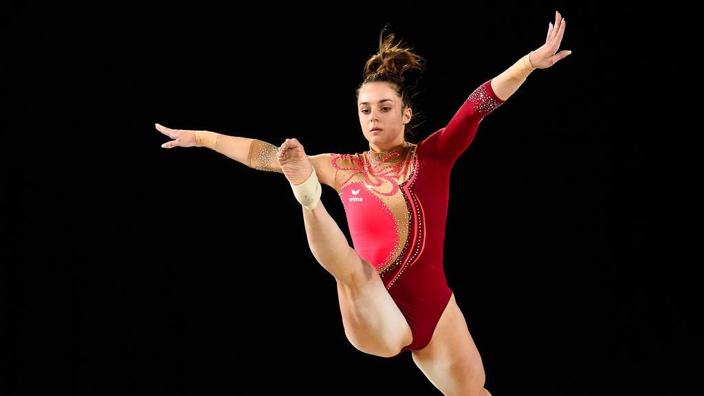 Weltmeisterin Pauline Schäfer trägt am Schwebebalken nun auch die Hoffnungen der Riege auf eine EM-Medaille
