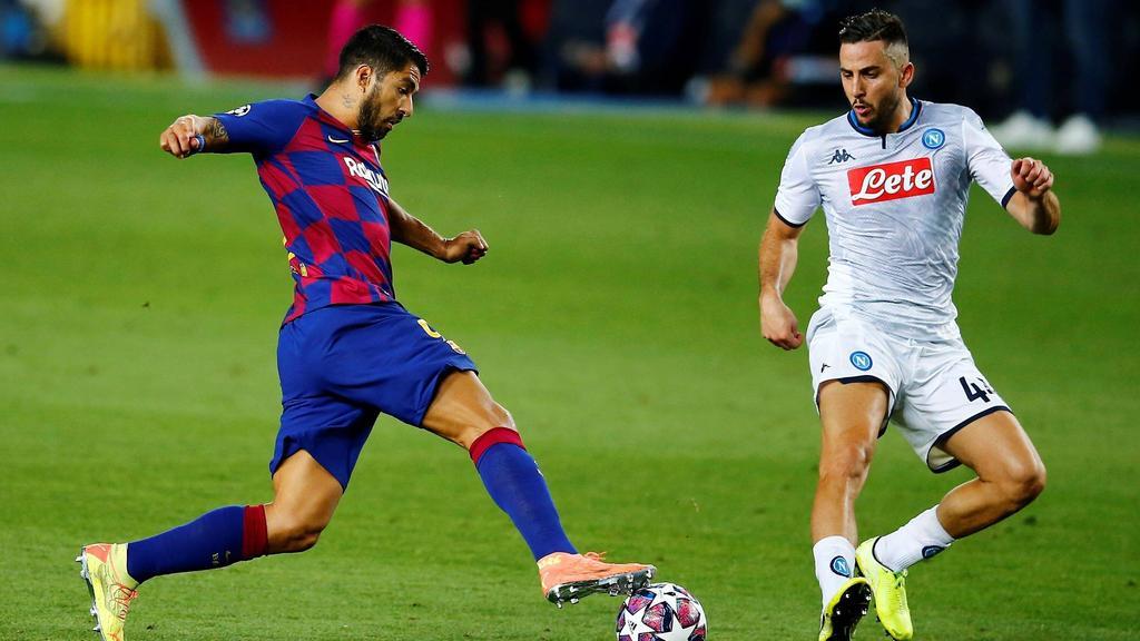 Luis Suárez und der der FC Barcelona fordern den FC Bayern