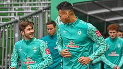 Davie Selke (r.) fehlt Werder Bremen gegen RB Leipzig