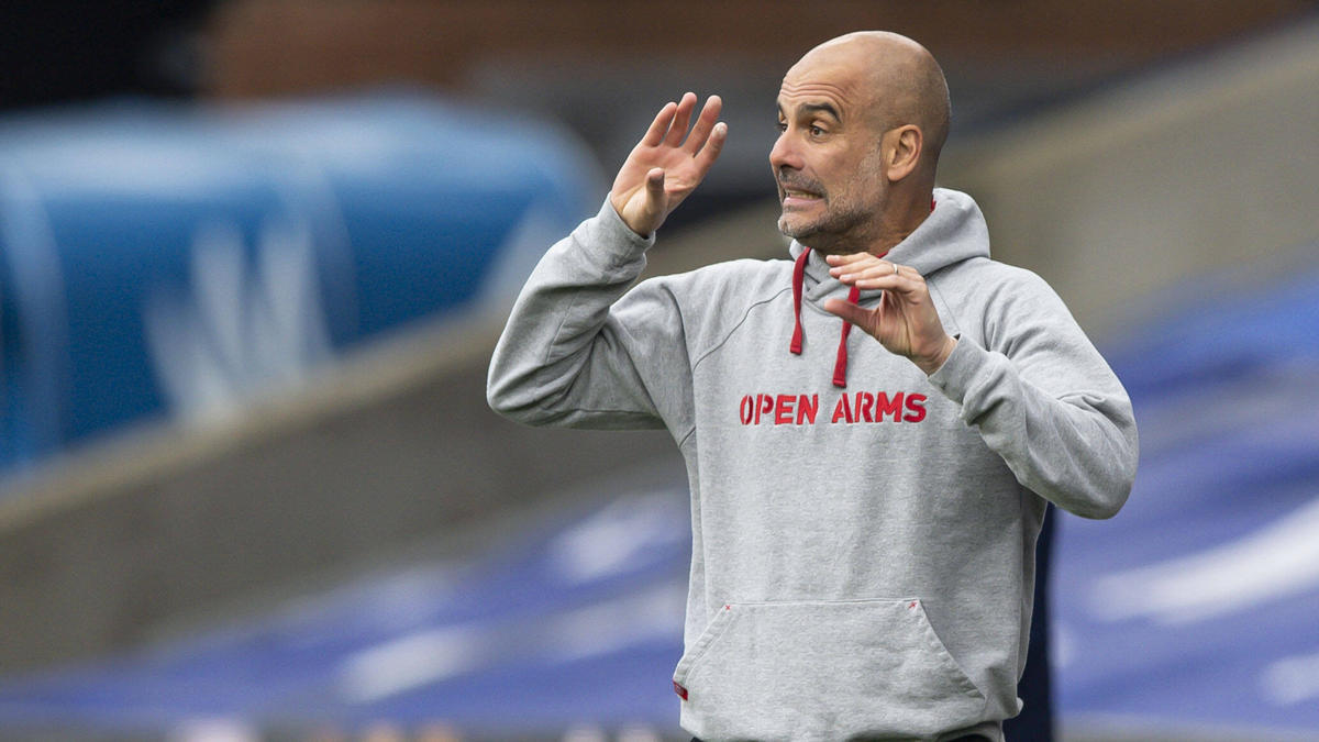 Pep Guardiola tritt mit Manchester City gegen PSG an