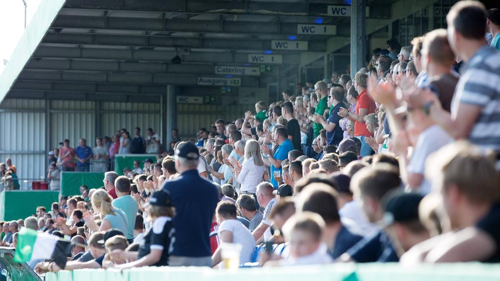 Die Erstrunden-Partie gegen Dynamo Dresden fand im FRIMO Stadion in Lotte statt